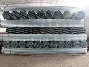 tub d'acer galvanitzat / tub roundsteel HDG amb costura per a reg
